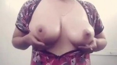 Beautiful Sexy Married Indian Bhabi Playing With Her Boobies