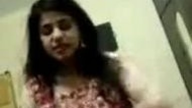 Cute Indian lady striping on video call leaked